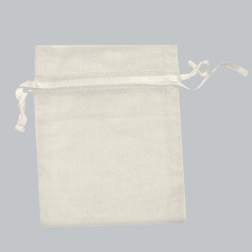 5 x 6.5 WHITE SHEER ORGANZA POUCHES