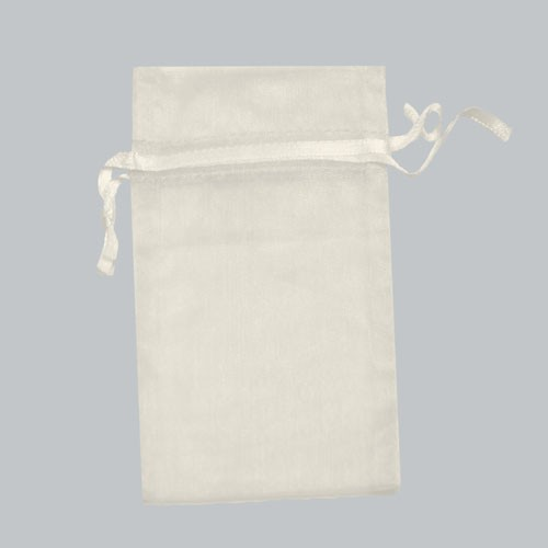 5.5 x 9 WHITE SHEER ORGANZA POUCHES