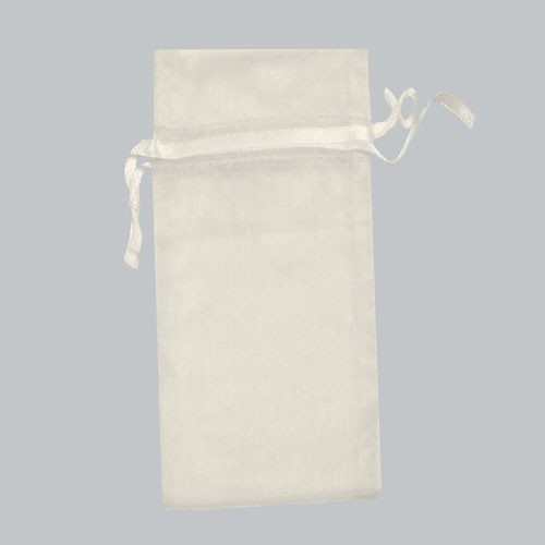 6 x 14 WHITE SHEER ORGANZA POUCHES