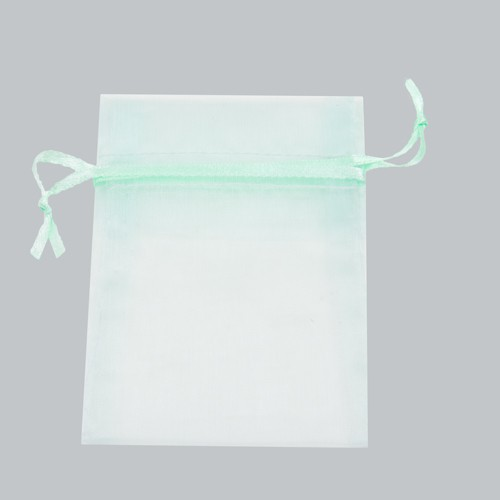 3 x 4 PASTEL GREEN SHEER ORGANZA POUCHES