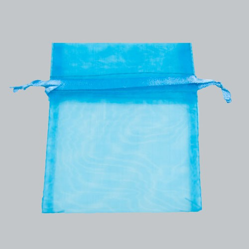 3 x 4 TURQUOISE SHEER ORGANZA POUCHES
