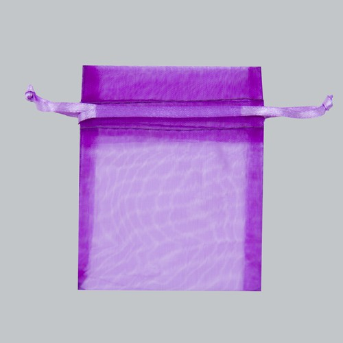 3 x 4 ULTRA VIOLET SHEER ORGANZA POUCHES