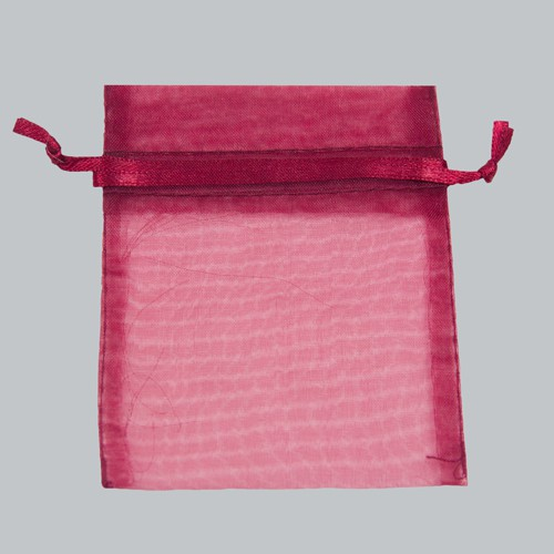 4 x 5 BURGUNDY SHEER ORGANZA POUCHES
