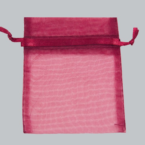 5 x 6.5 BURGUNDY SHEER ORGANZA POUCHES