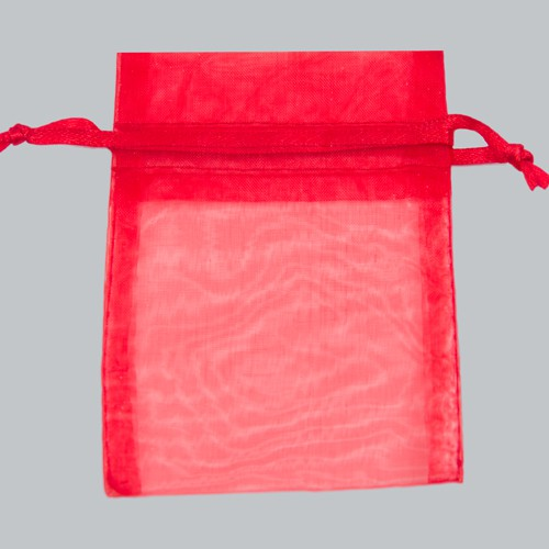 5 x 6.5 RED SHEER ORGANZA POUCHES