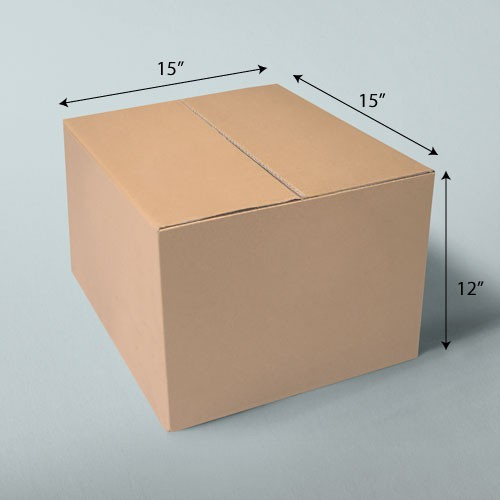 15 x 15 x 12 NATURAL KRAFT CORRUGATED SHIPPING BOXES