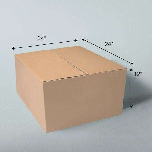 24 x 24 x 12 NATURAL KRAFT CORRUGATED SHIPPING BOXES