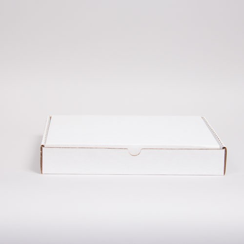 13 x 10 x 2 WHITE CORRUGATED TUCK-TOP MAILING BOXES
