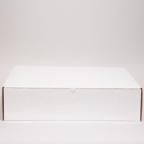 24 x 14 x 4 WHITE CORRUGATED TUCK-TOP MAILING BOXES