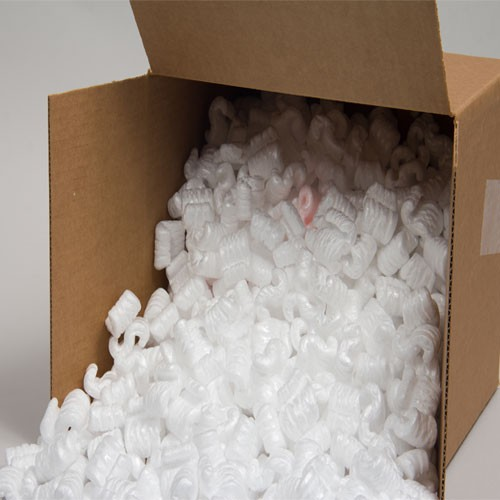 14 CUBIC FT WHITE STYROFOAM PACKING PEANUTS