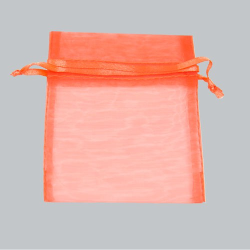 4 x 5 ORANGE SHEER ORGANZA POUCHES