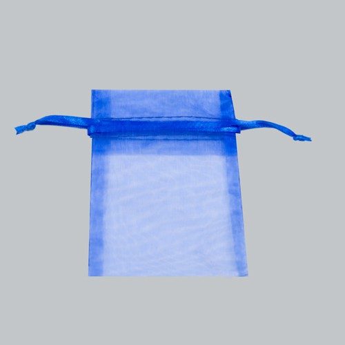 3 x 4 ROYAL BLUE SHEER ORGANZA POUCHES