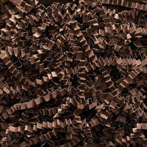 10lb. SPRING-FILL CHOCOLATE CRINKLE CUT PAPER SHRED