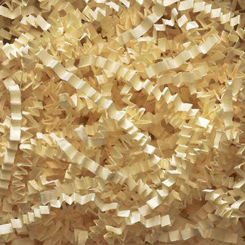 10lb. SPRING-FILL FRENCH VANILLA CRINKLE CUT PAPER SHRED