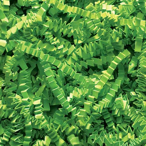10lb. SPRING-FILL LIME CRINKLE CUT PAPER SHRED