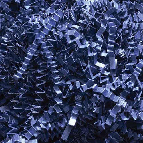 10lb. SPRING-FILL NAVY BLUE CRINKLE CUT PAPER SHRED