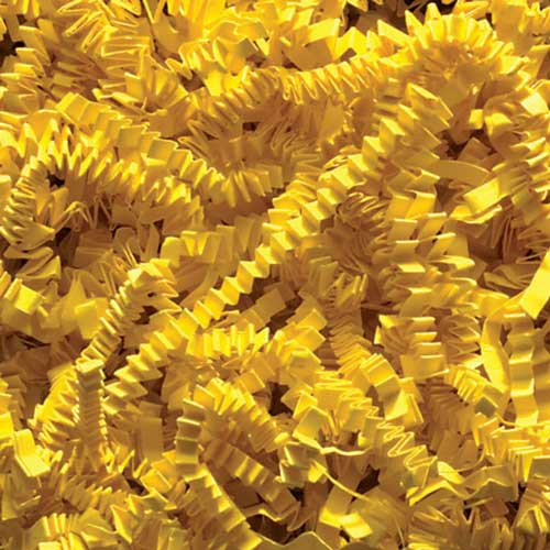 10lb. SPRING-FILL YELLOW CRINKLE CUT PAPER SHRED