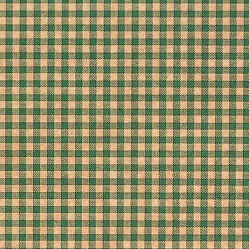 20 x 30 GREEN GINGHAM TISSUE PAPER