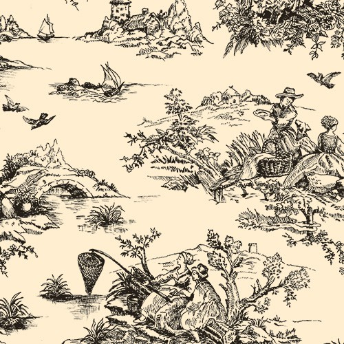 20 x 30 BLACK TOILE TISSUE PAPER