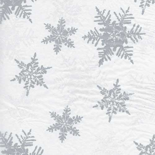 20 x 30 PEARL/SILVER SNOW HOLIDAY TISSUE PAPER