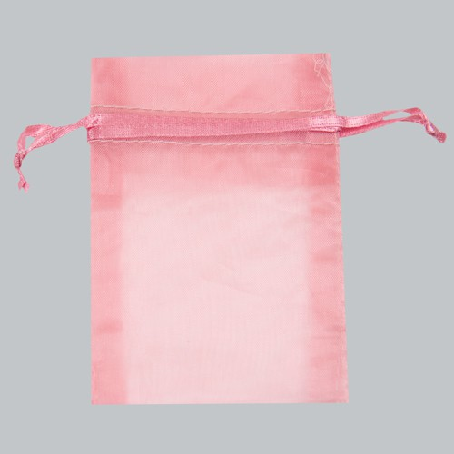 5 x 6.5 PINK SHEER ORGANZA POUCHES