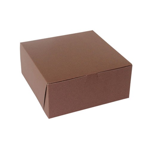 9 x 9 x 4 CHOCOLATE ONE-PIECE BAKERY BOXES