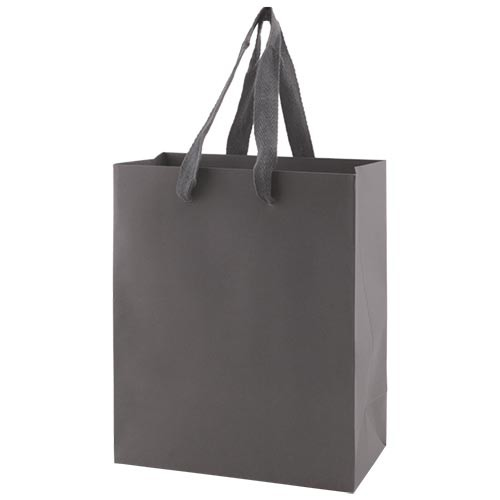 8 x 4 x 10 MATTE CHARCOAL TINTED PAPER EUROTOTES