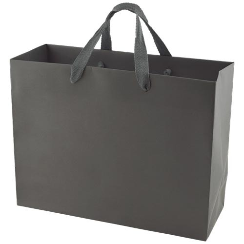 13 x 5 x 10 MATTE CHARCOAL TINTED PAPER EUROTOTES