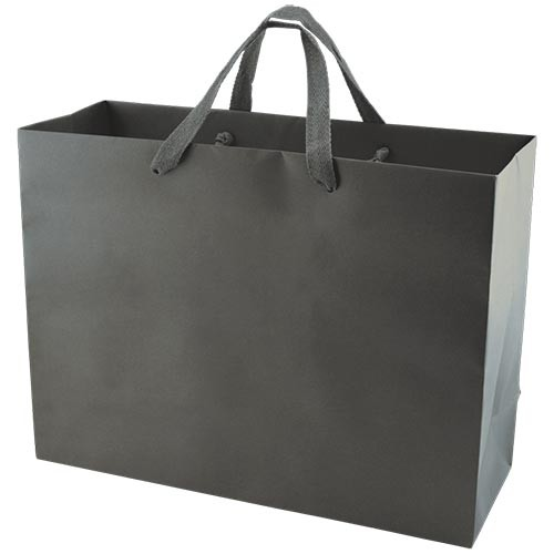 16 x 6 x 12 MATTE CHARCOAL TINTED PAPER EUROTOTES