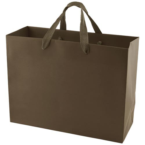 13 x 5 x 10 MATTE CHOCOLATE TINTED PAPER EUROTOTES