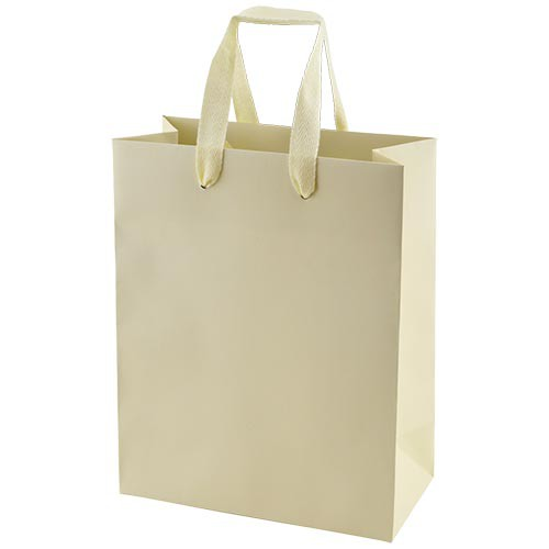 8 x 4 x 10 MATTE IVORY TINTED PAPER EUROTOTES