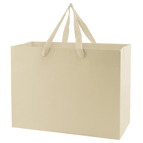 13 x 5 x 10 MATTE IVORY TINTED PAPER EUROTOTES