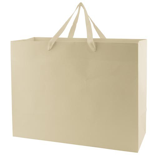 16 x 6 x 12 MATTE IVORY TINTED PAPER EUROTOTES