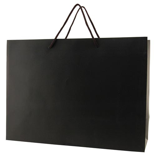 16 x 6 x 12 MATTE BLACK EUROTOTE SHOPPING BAGS