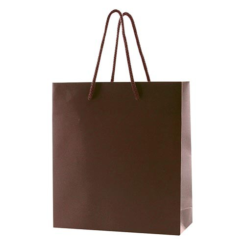 6 x 3.5 x 6.5 MATTE CHOCOLATE EUROTOTE SHOPPING BAGS