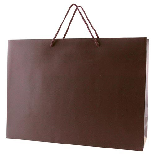 16 x 6 x 12 MATTE CHOCOLATE EUROTOTE SHOPPING BAGS
