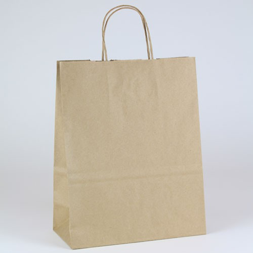 10 x 7 x 12 NATURAL KRAFT PAPER SHOPPING BAGS - 100% RECYCLED