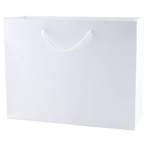 13 x 5 x 10 WHITE KRAFT EUROTOTE SHOPPING BAGS