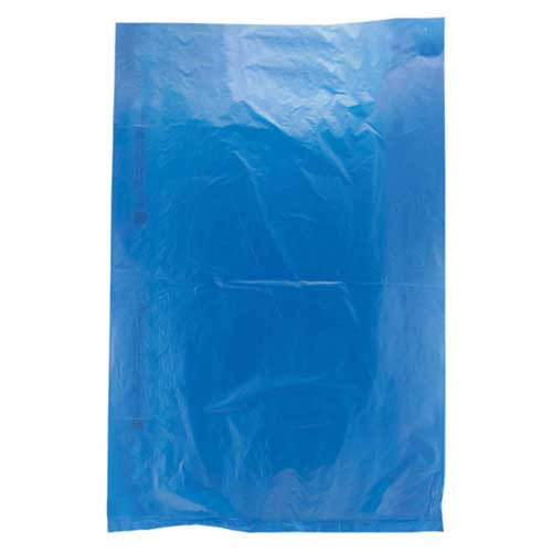 6.5 x 9.5 DARK BLUE SATIN HIGH DENSITY PLASTIC BAGS