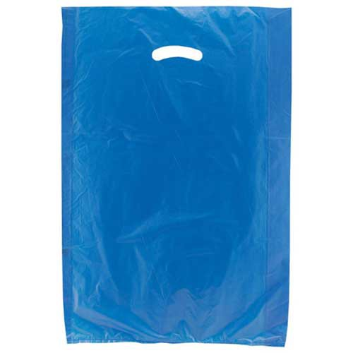 16 x 4 x 24 DARK BLUE SATIN HIGH DENSITY PLASTIC BAGS