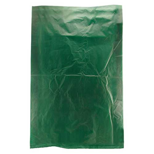 6.5 x 9.5 DARK GREEN SATIN HIGH DENSITY PLASTIC BAGS