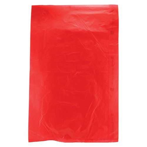 6.5 x 9.5 RED SATIN HIGH DENSITY PLASTIC BAGS