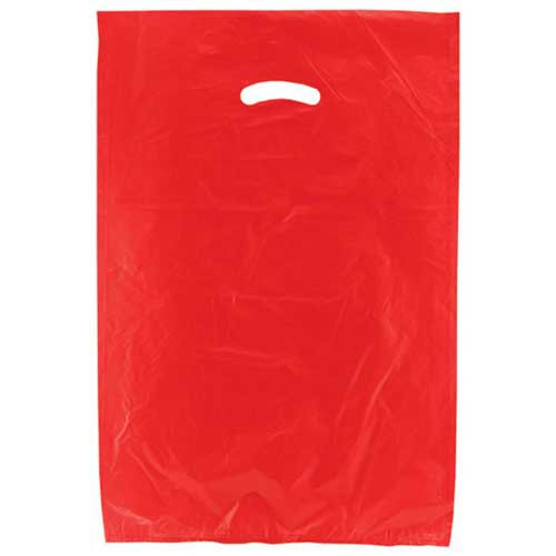 16 x 4 x 24 RED SATIN HIGH DENSITY PLASTIC BAGS