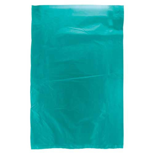 6.5 x 9.5 TEAL SATIN HIGH DENSITY PLASTIC BAGS