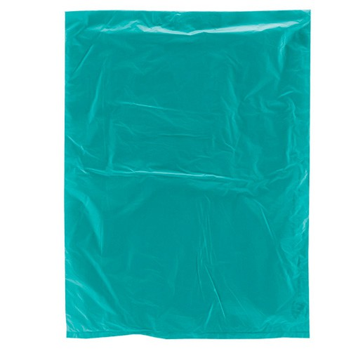 8.5 x 11 TEAL SATIN HIGH DENSITY PLASTIC BAGS