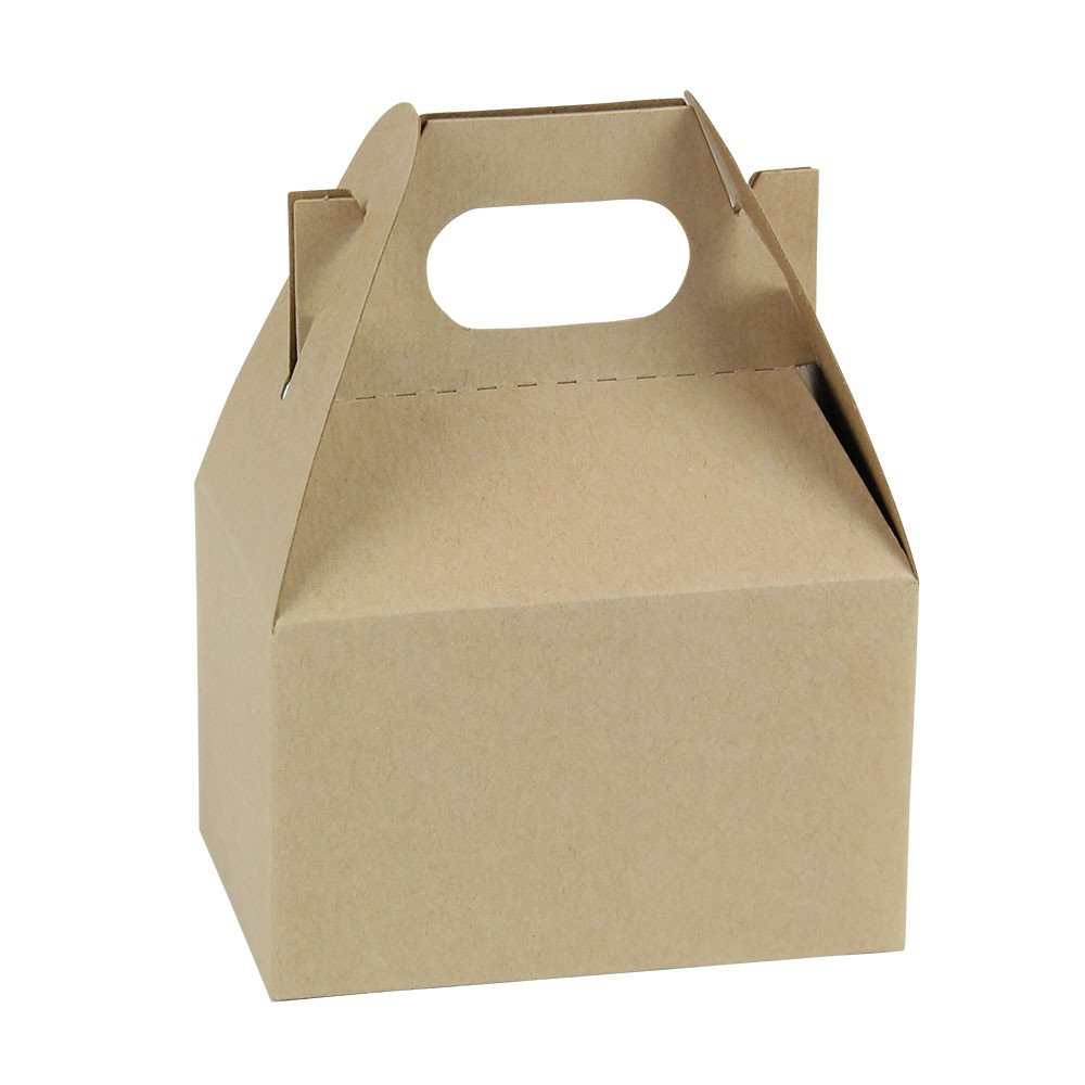 4 x 2.5 x 2.5 NATURAL KRAFT GABLE BOXES