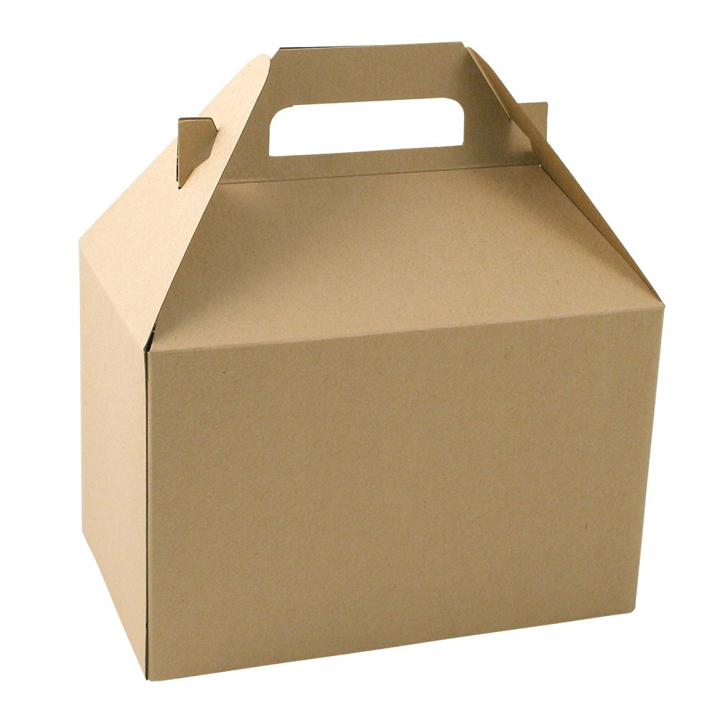 8 x 5 x 5.25 NATURAL KRAFT GABLE BOXES