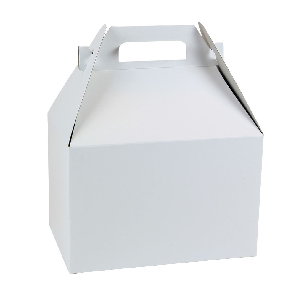 9 x 6 x 6 WHITE GLOSS GABLE BOXES