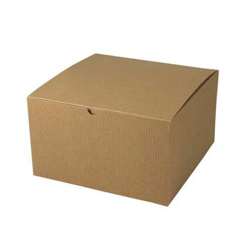 10 x 10 x 6 NATURAL KRAFT TUCK-TOP GIFT BOXES