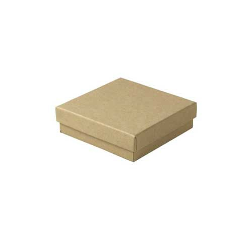(#33) 3-1/2 x 3-1/2 x 1 NATURAL KRAFT JEWELRY BOXES